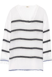 Lemlem Bethany Striped Cotton Blend Gauze Tunic
