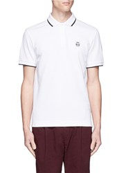 Mcq By Alexander Mcqueen Rubber Logo Patch Polo Shirt White