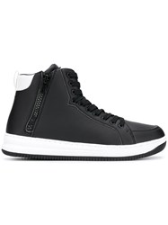 Emporio Armani Ea7 Hi Top Sneakers Black