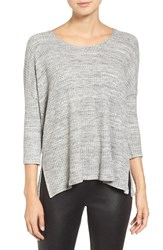 Velvet By Graham And Spencer Women's Marble Thermal Pullover