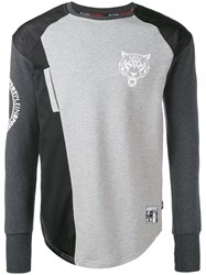 Plein Sport Raglan Sweatshirt Men Cotton Polyester M Grey