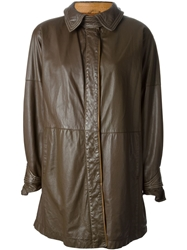 Gianfranco Ferre Vintage Buttoned Coat Brown