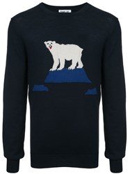 Band Of Outsiders Bear Knitted Sweater Blue