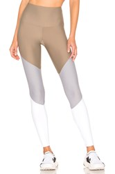 Onzie High Rise Track Legging Taupe