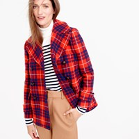 J.Crew Peacoat In Hamilton Plaid