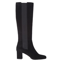 Hobbs Marie Block Heeled Knee High Boots Black Suede