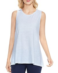 Vince Camuto Charter Mini Stripe Crossover Back Tank Pale Chambray