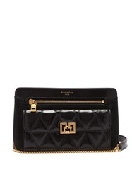 Givenchy Pocket Leather Cross Body Bag Black