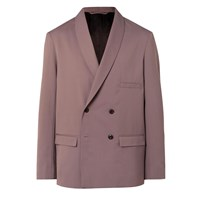 Christophe Lemaire Mushroom Double Breasted Twill Blazer Brown