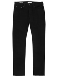 Reiss Allman Stretch Cotton Slim Jeans Black