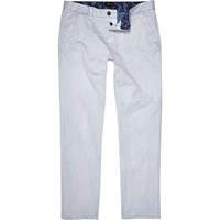 River Island Mens Light Blue Slim Chinos