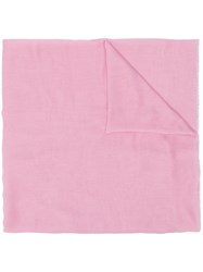 M Missoni Embroidered Logo Scarf Pink