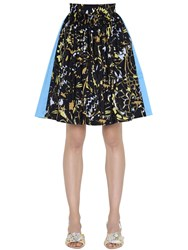 Peter Pilotto Taffeta And Jacquard Mini Skirt W Lurex