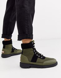 Hunter Insulated Hiker Boots In Olive Green