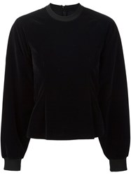 Maison Martin Margiela Mm6 Round Neck Longsleeved Sweatshirt Black