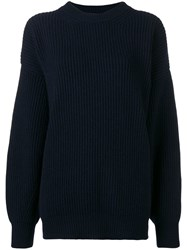 Department 5 Oversized Knit Sweater Blue