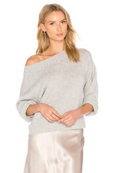 Vince Boxy Off The Shoulder Sweater Gray
