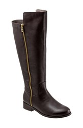 Women's Trotters 'Larule' Tall Boot Dark Brown Wide Calf