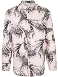 Loveless Palm Print Shirt Pink