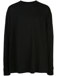 Unravel Project Back Print Long Sleeve T Shirt Black