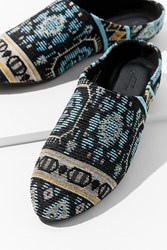 Urban Outfitters Uo Tapestry Mule Blue