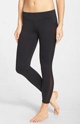 Solow Mesh Inset Ankle Leggings Black