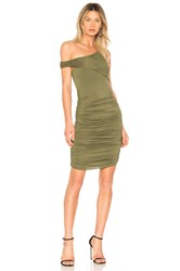 Kendall Kylie Ruched Dress Army