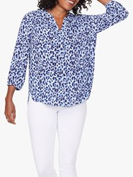 Nydj Pintuck Pleat Back Blouse Canyon Cat