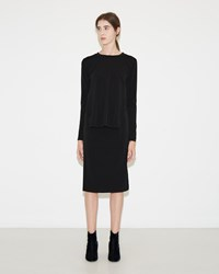 Maison Martin Margiela Stretch Jersey Crepe Dress Black