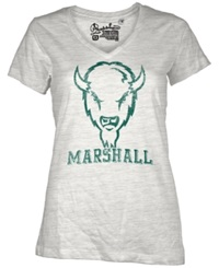 Royce Apparel Inc Women's Short Sleeve Marshall Thundering Herd T Shirt White