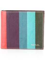 Paul Smith Striped Wallet Pink Purple