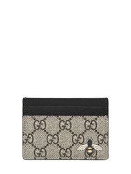 Gucci Bee Print Gg Supreme Card Holder