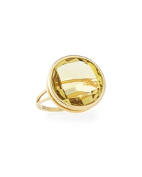 Vianna B.R.A.S.I.L Faceted Green Golden Quartz Ring Size 7