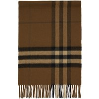 Burberry Brown Cashmere Giant Check Scarf