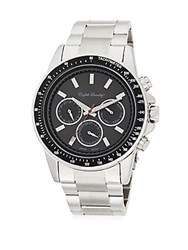 English Laundry Stainless Steel Chronograph Watch Silver Black