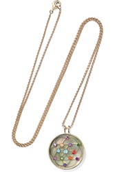 Noor Fares 18 Karat Gray Gold Multi Stone Necklace One Size