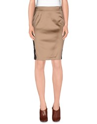 Galliano Skirts Knee Length Skirts Women Khaki