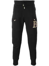 Balmain Pierre Zipped Pockets Sweatpants Black