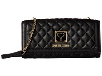 Love Moschino Quilted Wallet Bag Black Wallet Handbags
