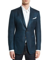 Tom Ford O'connor Base Rustic Herringbone Sport Jacket Teal