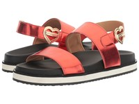Love Moschino Metal Heart Buckle Sandal Red Women's Shoes