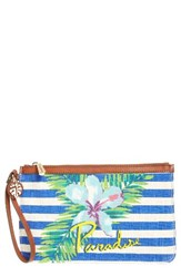 Tommy Bahama Women's Boca Chica Beach Wristlet Blue Paradise