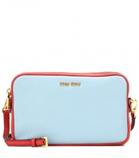 Miu Miu Leather Shoulder Bag Blue