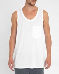 American Vintage White Raw Edge Tank Top