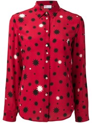 Red Valentino Contrast Star Print Shirt Red