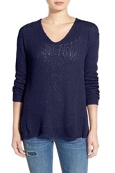 Bp V Neck Pullover Sweater Blue