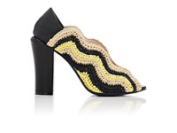 Fendi Women's Chameleon Wave Pumps Yellow