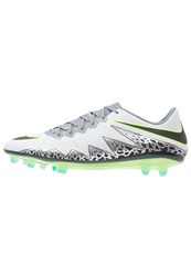 Nike Performance Hypervenom Phinish Fg Football Boots Pure Platinum Black Ghost Green Cool Grey Metallic Silver Clear Jade