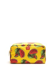 Dolce And Gabbana Watermelon Print Make Up Bag Yellow Multi