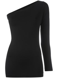 Helmut Lang One Shoulder Top Black